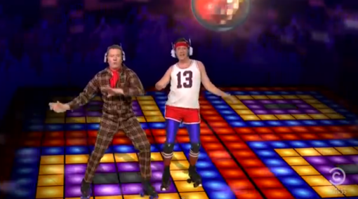 Daft Punk stood up the Colbert Report so Colbert got Bryan Cranston, Hugh Laurie and America's Got Talent to substitute