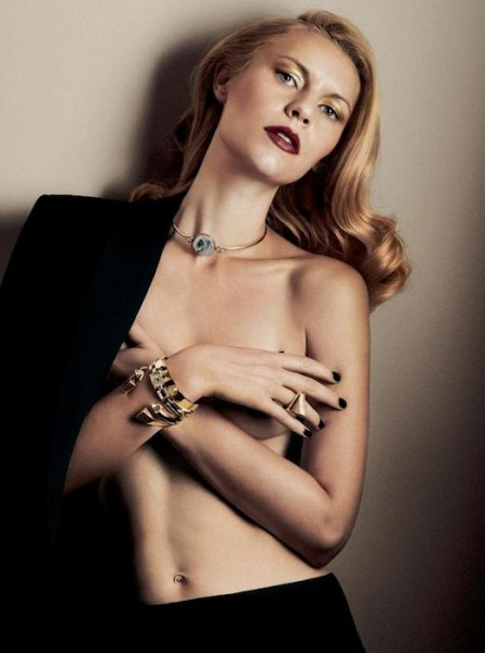 Claire Danes poses topless in Interview Magazine