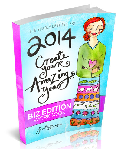 A Must for Female Entrepreneurs Leonie Dawson is inspiring and fun and will make you feel amazing.  This 2014 Create Your Amazing Year Workbook will change your life
