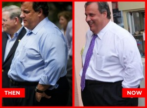 Chris Christie before and After 70 lb weight loss